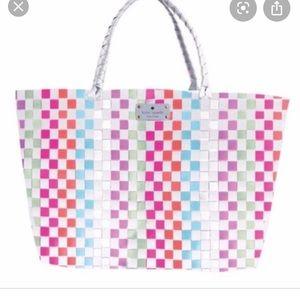 Kate Spade Multi Colored Woven Tote Bag
